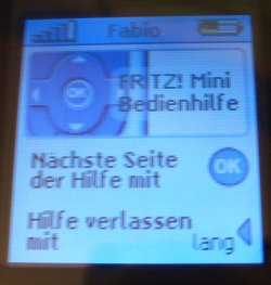 Fritz!Mini Hilfe