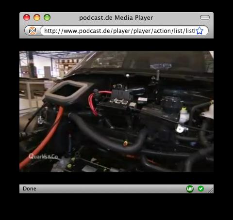 Podcast Media Player Video Vollbild