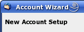Thunderbird Account Wizard - Neuen Account anlegen