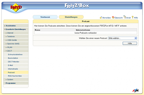 Fritz!Fon Podcast-Feature