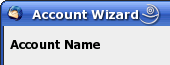 Thunderbird Account Wizard - Accountname festlegen