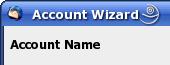 Thunderbird Account Wizard - Accountname festlegen