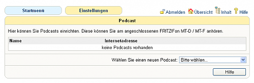 Fritz!Fon Podcast-Feature