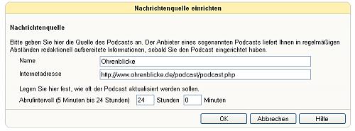 Fritz!Fon Podcast einrichten