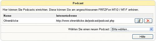 Fritz!Fon Podcast Liste