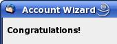 Thunderbird Account Wizard - Bestätigung
