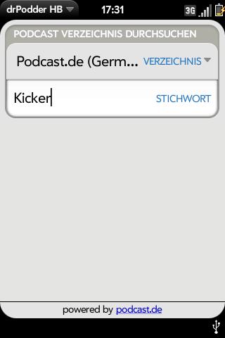 drPodder - Podcast-Verzeichnis durchsuchen