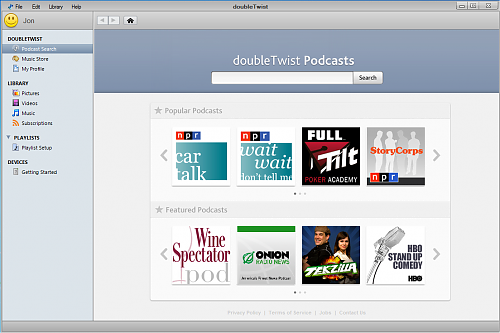 doubleTwist Podcasts