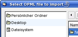 Thunderbird - OPML Dateien importieren