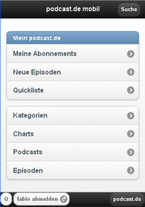 ip.podcast.de Screenshot Home