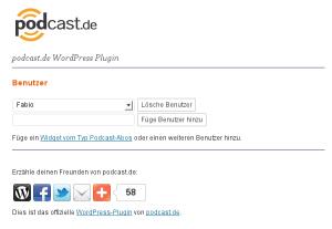 podcast.de WordPress Plugin