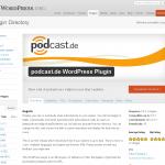 podcast.de WordPress-Plugin im Verzeichnis