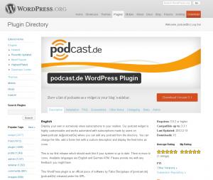 WordPress -Verzeichnis Screenshot mit Banner