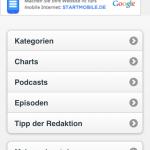 podcast.de - Mobile Seite