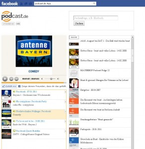 facebook app fuer podcasts podcast.de  292x300 Facebook App für Podcasts von podcast.de