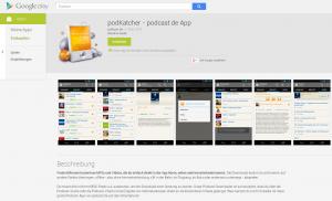 store eintrag 300x182 podKatcher   die kostenlose Podcast App von podcast.de   jetzt für Android im Play Store verfügbar!