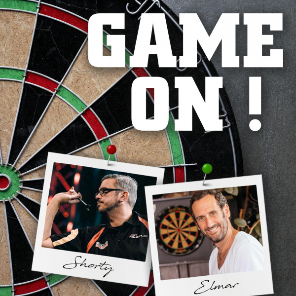 "Grafik ""GAME ON - Der Darts Podcast"" aus der Reihe Top 5 Podcasts zur Darts WM 2021"