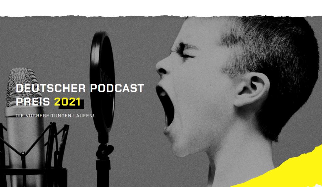 Screenshot deutscher Podcastpreis