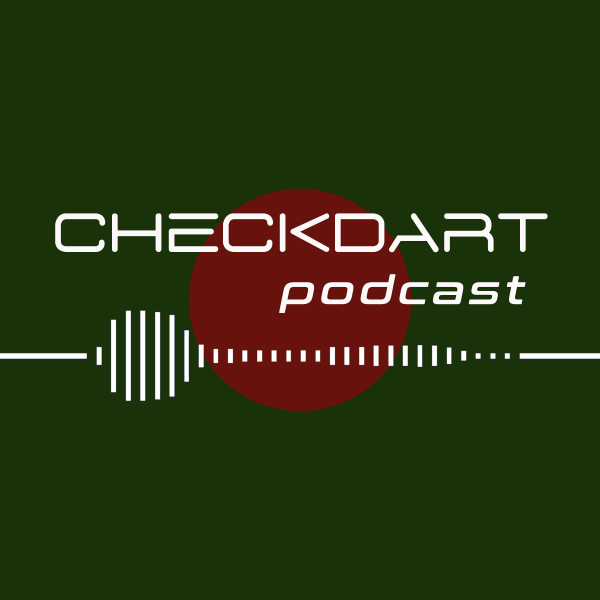 "Grafik ""checkdart Podcast"" aus der Reihe Top 5 Podcasts zur Darts WM 2021"