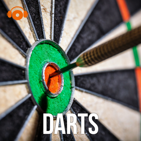 "Grafik ""Darts Podcast"" aus der Reihe Top 5 Podcasts zur Darts WM 2021"