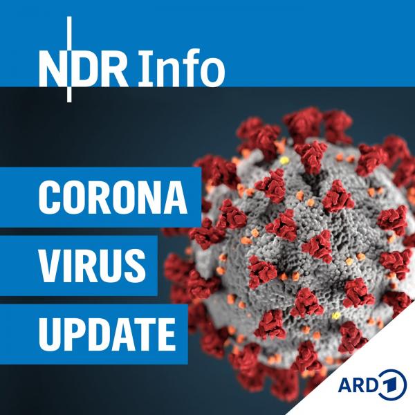 """Grafik """"NDR Info Coronavirus Update"""" mit Link zur Episode """"Das Virus macht keine Geschenke"""""""