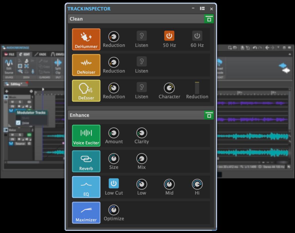WaveLab Cast Trackinspector Podcaster Software von Steinberg
