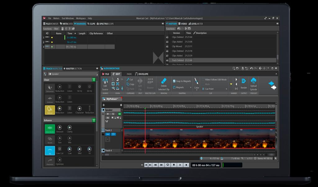 WaveLab Cast Podcaster Software von Steinberg. Bildquelle: Steinberg