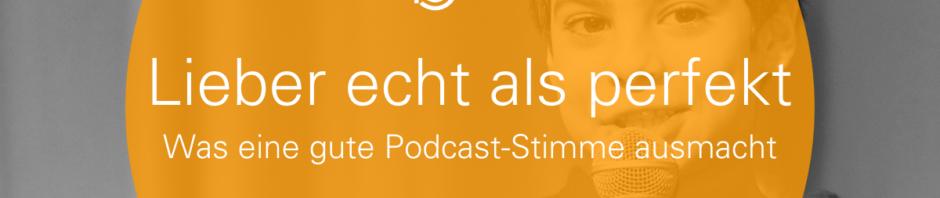 Was eine gute Podcast-Stimme ausmacht Header Banner